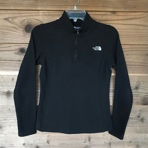 The North Face Black 1/4 Zip Fleece Pullover XS
